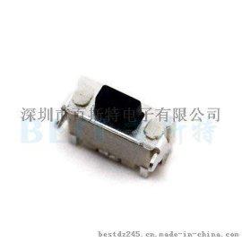 供应百斯特1.85*4.6耐高温轻触开关带支架TS-1111C轻触开关 编带