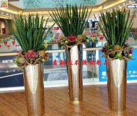 不锈钢圆锥形组合花盆  金属花盆景观花盆生产厂家定制