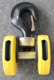 起重機歐式吊鉤組3.2噸雙輪吊鉤繩徑6mm歐式電動葫蘆吊鉤
