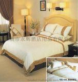 永輝酒店用品 純棉貢緞印花美式四件套 全棉牀上用品牀單被套