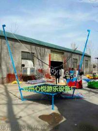 赶庙会使用钢架蹦极多少钱一台/河南折叠式儿童蹦极跳跳床厂家