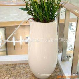 时尚**玻璃钢花钵花箱 户外景观装饰大花箱园艺花盆