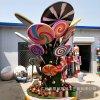 玻璃鋼棒棒糖組合雕塑 廠家定制戶外親子主題雕塑