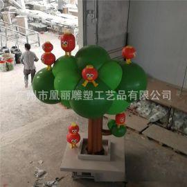 玻璃钢仿真树雕塑厂家直销影视道具定制雕塑玻璃钢圣诞树
