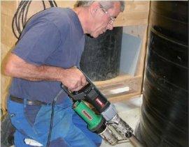 LEISTER进口垃圾填埋场土工膜HDPE进口单轨塑料焊接机