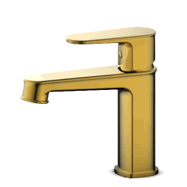 廠家直銷 高檔鋯金色單孔冷熱面盆龍頭 08011B