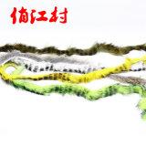 飞钓 绑制材料 斑纹兔毛条 rabbit