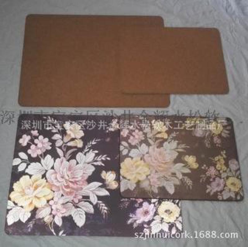 环保软木杯垫哪个厂家好 专业生产环保UV软木杯垫