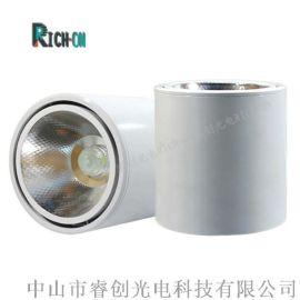 明裝COB筒燈,白色款可調角度10W明裝筒燈
