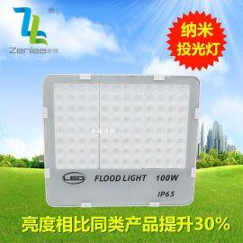 Zenlea珍领 ZL-FL100-G 100W 户外七彩防水射灯 LED纳米投光灯  LED蜂窝煤投射灯 超聚光