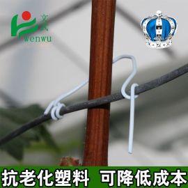 厂家**葡萄枝扎丝 圆形铁金属包塑绑枝软铁包绑线0.55mm条扎带