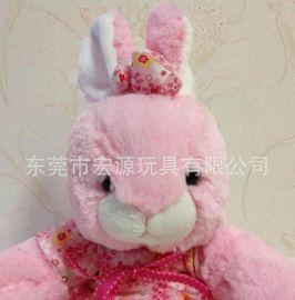 大眼兔 凸眼兔 可愛大嘴兔 毛絨玩具加工訂製毛絨模擬兔