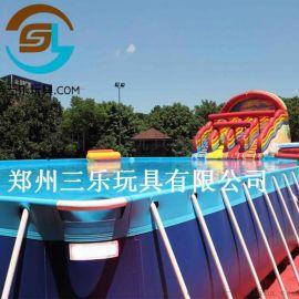河北保定移动大型支架水池便捷式水上乐园