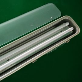 双管磨砂罩三防灯/防水LED不锈钢支架