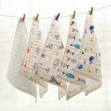 6層紗布三角巾 寶寶泡泡紗圍嘴 嬰兒紗布口水巾