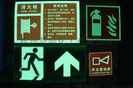商场办公楼蓄光自发光PVC指示牌