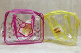厂家透明PVC拉链袋防水洗漱收纳包化妆品包装袋