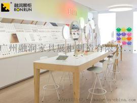 深圳融潤展櫃製作高檔木質商場中島香水展示櫃