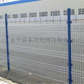 护栏网-三角折弯护栏网-厂区隔离网