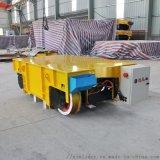 郑州定制电动平板车铸钢轮重型钢材转运车