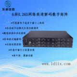 視頻監控6屏嵌入式網路高清視頻解碼數位矩陣廠家