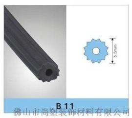 6.5PVC纱窗网压条、圆形胶条   可定制