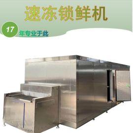500kg新鲜玉米速冻机 大产量隧道式速冻机