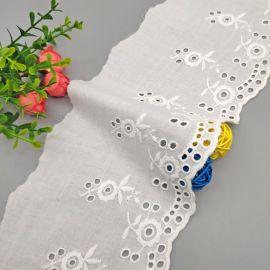 棉布刺绣花边DIY衣领抱枕装饰纯棉镂空花边