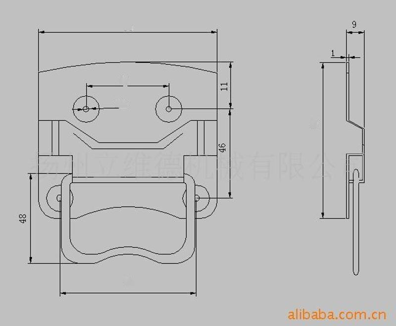 供应钢铁拉手、工具箱拉手、工具箱把手(图)