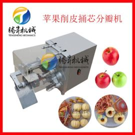 厂家自主研发 电动削皮机 台式多功能苹果/菠萝去皮桶心机 切块机