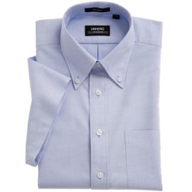 UNHERO皇家免烫牛津纺全棉短袖衬衫(法国蓝)