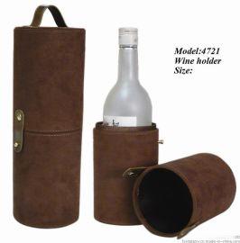 FSS4721单支装圆形麂皮绒酒盒