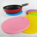 厂家直供硅胶蜂窝垫 圆形硅胶餐垫 隔热垫 防滑垫