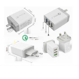 30W快充3个USB充电器,欧规/美规/英规