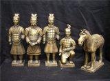 西安兵马俑复制品,镀金兵马俑像摆件