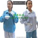 防靜電上衣 防護無塵拉鍊衣服防塵分體長袖夾克工作服藍白色男女