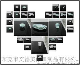 L-26014 船型碗 东裕美耐皿密胺餐具 青花瓷系列 方盘 浮雕盘 汤勺