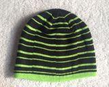 新款男式針織不對稱條紋比尼帽