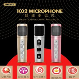 Remax/睿量 K02降噪手机通用麦克风 全名K歌主播话筒苹果oppo唱歌
