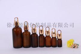 棕色精油瓶茶色滴管瓶精油分装瓶5-100ml