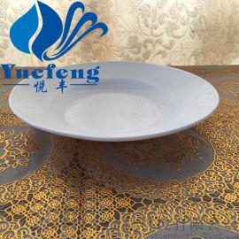 【厂家直销】深盘TP-70/80/90/100 乳白耐热钢化玻璃 汤盘 白玉盘