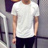 夏季男士短袖T恤圆领纯色体恤打底衫夏装男装黑白潮韩版半袖上衣