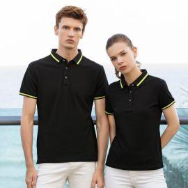 定制工作服T恤男女夏季POLO衫短袖印字LOGO刺绣翻领工装工衣定做