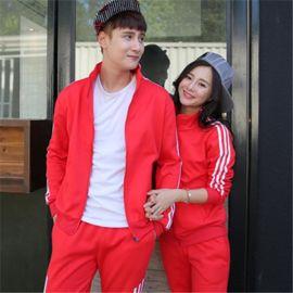 春季情侣装棒球服韩版长袖拼色卫衣男女开衫薄外套学生班服加logo