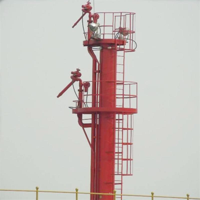 消防高位水炮塔 碼頭全自動除塵降溫消防炮塔噴淋設施