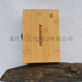 厂家专业生产定制天然原竹碳化竹制礼品盒竹子仪器包装盒
