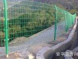 现货护栏浸塑双边铁丝隔离网