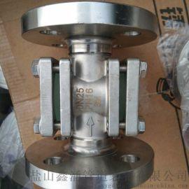 """HG系列方形管道视镜1""""螺纹叶轮水流指示器量大从优"""