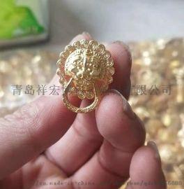 金色酒盒配件狮子扣狮型扣