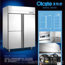 面包盘叉柜 对开门冰箱 工作台冷冻柜